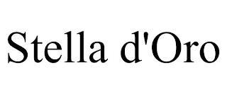 STELLA D'ORO trademark