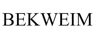 BEKWEIM trademark