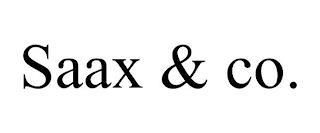 SAAX & CO. trademark