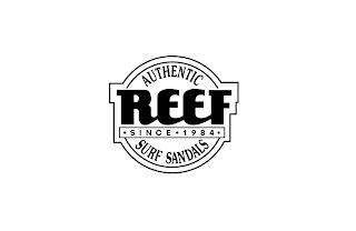 AUTHENTIC REEF SINCE 1984 SURF SANDALS trademark