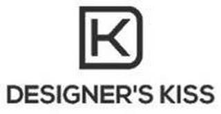 DK DESIGNER'S KISS trademark