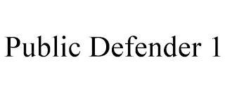 PUBLIC DEFENDER 1 trademark