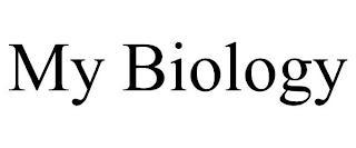 MY BIOLOGY trademark