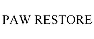 PAW RESTORE trademark
