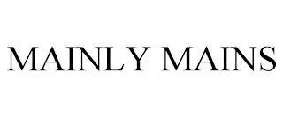 MAINLY MAINS trademark
