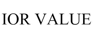 IOR VALUE trademark