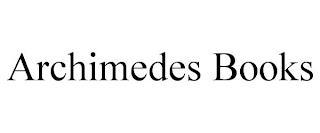 ARCHIMEDES BOOKS trademark
