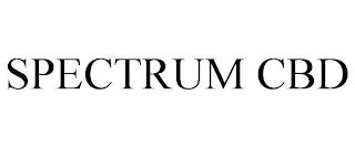 SPECTRUM CBD trademark
