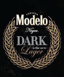 CERVEZA MODELO NEGRA. DARK - IS THE NEW- LAGER trademark