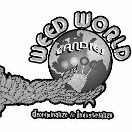 WEED WORLD CANDIES DECRIMINALIZE & INDUSTRIALIZE trademark