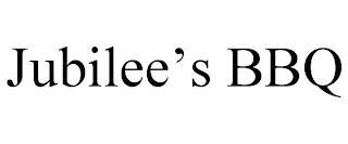 JUBILEE'S BBQ trademark