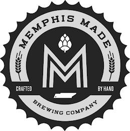 M MEMPHIS MADE BREWING COMPANY CRAFTED BY HAND trademark