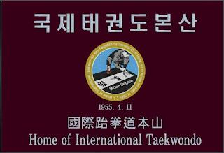 TAEKWONDO WAS FOUNDED BY GENERAL CHOI HONG-HI IN KOREA ON APRIL 11, 1955 HOME OF INTERNATIONAL 1955. 4. 11 9 DAN DEGREE trademark