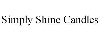 SIMPLY SHINE CANDLES trademark