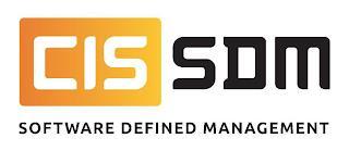 CIS SDM SOFTWARE DEFINED MANAGEMENT trademark