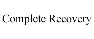 COMPLETE RECOVERY trademark