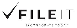 FILE IT INCORPORATE TODAY trademark
