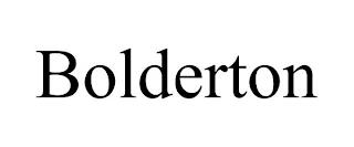 BOLDERTON trademark