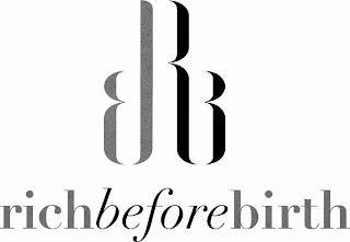 BRB RICH BEFORE BIRTH trademark