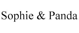 SOPHIE & PANDA trademark