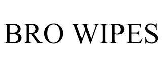 BRO WIPES trademark