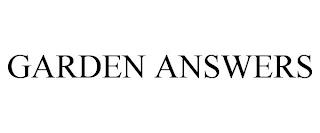 GARDEN ANSWERS trademark