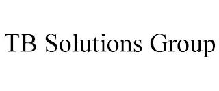 TB SOLUTIONS GROUP trademark