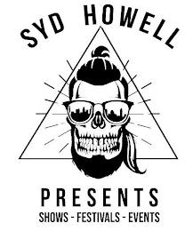 SYD HOWELL PRESENTS SHOWS-FESTIVALS-EVENTS trademark