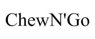 CHEWN'GO trademark