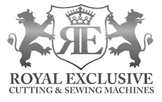 RE ROYAL EXCLUSIVE CUTTING & SEWING MACHINES trademark