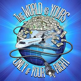 THE WORLD IS YOURS ONLY IF YOUR PLUG RIGHT trademark