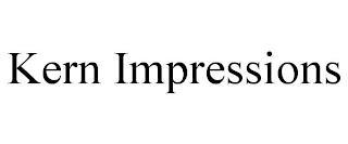 KERN IMPRESSIONS trademark