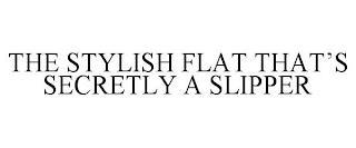 THE STYLISH FLAT THAT'S SECRETLY A SLIPPER trademark