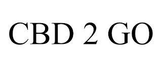 CBD 2 GO trademark