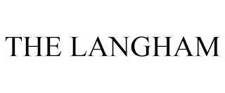 THE LANGHAM trademark