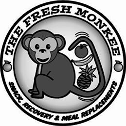 THE FRESH MONKEE SNACK, RECOVERY & MEALREPLACEMENTS trademark