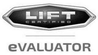 LIFT CERTIFIED EVALUATOR trademark