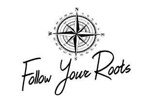 FOLLOW YOUR ROOTS N E S W NE SE SW NW 15 30 45 60 75 105 120 135 150 165 195 210 225 240 255 285 300 315 330 345 trademark