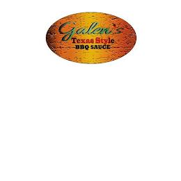 GALEN'S TEXAS STYLE BBQ SAUCE trademark