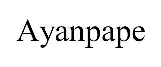 AYANPAPE trademark