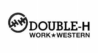 H H DOUBLE-H WORK WESTERN trademark