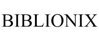 BIBLIONIX trademark
