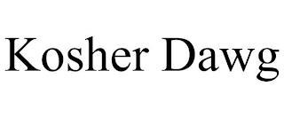 KOSHER DAWG trademark