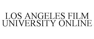 LOS ANGELES FILM UNIVERSITY ONLINE trademark