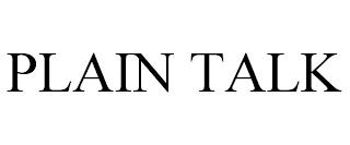 PLAIN TALK trademark