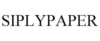 SIPLYPAPER trademark