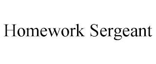 HOMEWORK SERGEANT trademark