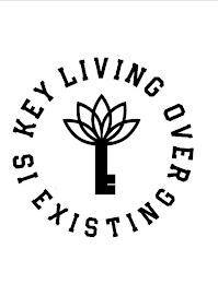 LIVING OVER EXISTING IS KEY trademark