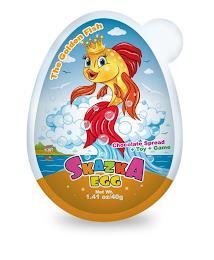 THE GOLDEN FISH CHOCOLATE SPREAD+TOY+GAME SKAZKA EGG NET WT. 1.41 OZ/40G trademark