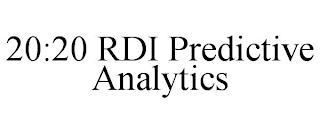 20:20 RDI PREDICTIVE ANALYTICS trademark